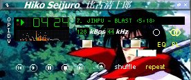 Screenshot of Hiko winamp skin